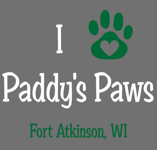 Paddy's Paws: Rescue Done Right! shirt design - zoomed