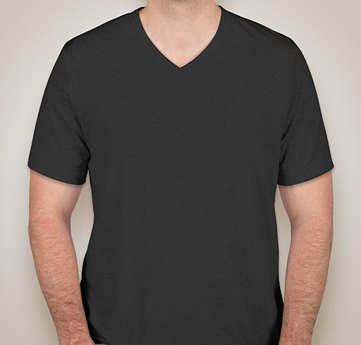 Canvas Tri-Blend V-Neck T-shirt - Charcoal Black Triblend