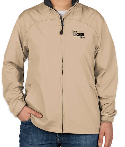 North End Women's Full Zip Hooded Jacket - Putty