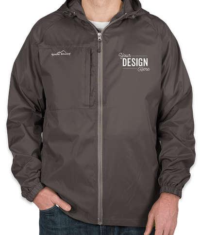 Eddie Bauer Full Zip Hooded Packable Jacket - Grey Steel