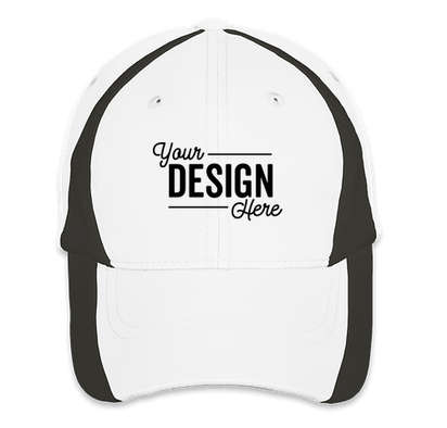 Sport-Tek Colorblock Performance Hat - White / Black