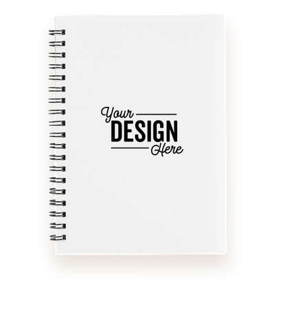 Medium Plastic Cover Spiral Notebook - White