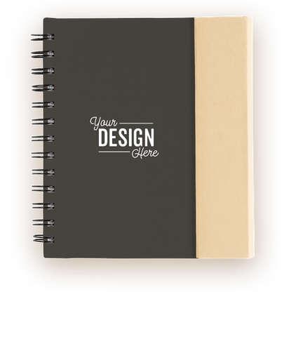 Organized Lock-it Spiral Notebook with Pen - Black