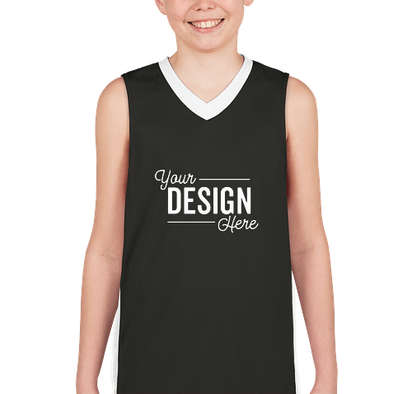 Augusta Youth Colorblock Basketball Jersey - Slate / White