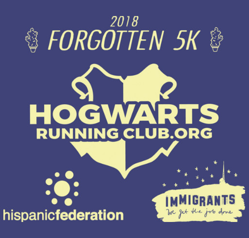 Forgotten 5K shirt design - zoomed