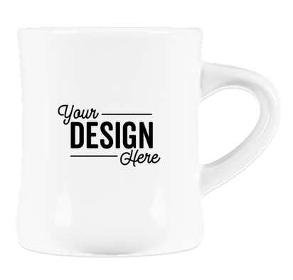 10 oz. Ceramic Diner Mug - White