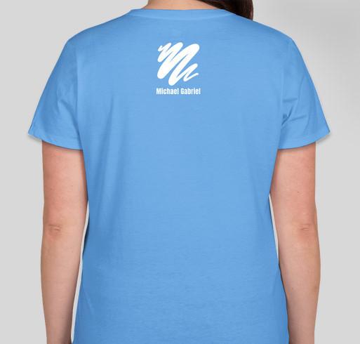 Michael Gabriel for the Sierra County Humane Society Fundraiser - unisex shirt design - back