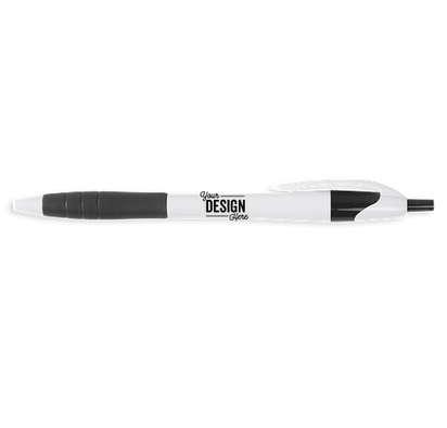 Javelin Rubber Grip Pen (black ink) - White / Black