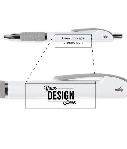 BIC Image Grip Pen (black ink) - White / Grey