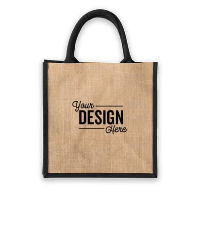 Medium Jute Tote - Black