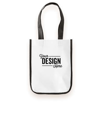 Small Laminated Shopper Tote - White