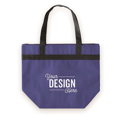 Basic Zippered Insulated Grocery Tote - Blue
