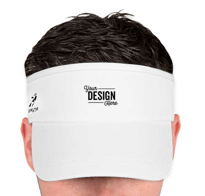 Team 365 Headsweats Performance Running Visor - White