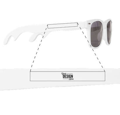 Malibu Bottle Opener Sunglasses - White