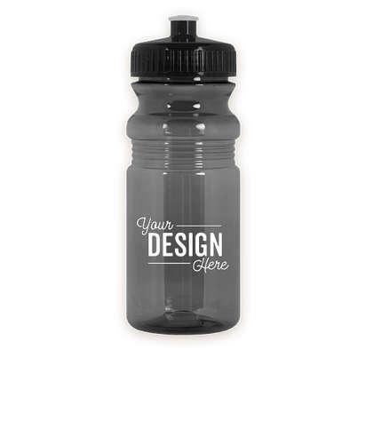 20 oz. Translucent Bike Water Bottle - Translucent Smoke