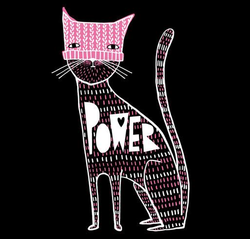 catPOWER2 shirt design - zoomed