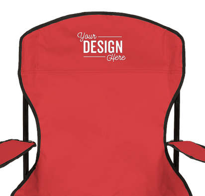 Captain's Folding Chair - Red
