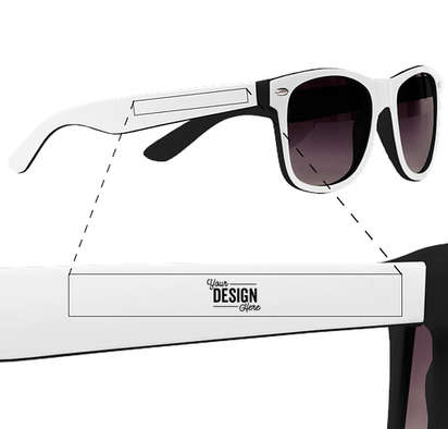 Two-Tone Malibu Sunglasses - Black / White