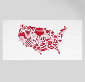 american beach towel