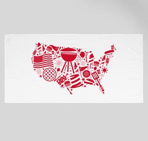 american beach towel