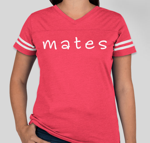 LAT Ladies Varsity V-Neck T-shirt