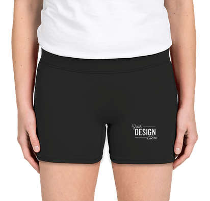 "Augusta Women's 4"" Compression Shorts - Black"