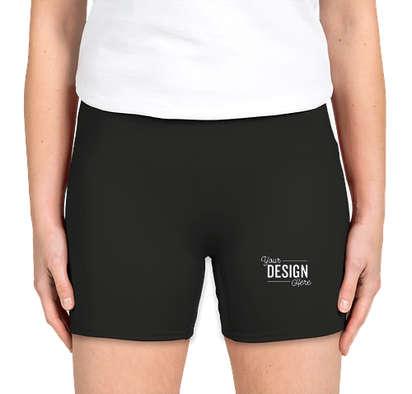 """Badger Women's 4"""" Compression Shorts - Black"""