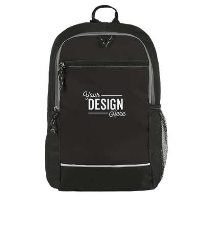 Promotional Side Pocket Backpack - Black