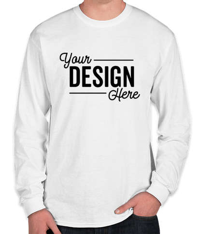 Gildan DryBlend 50/50 Long Sleeve T-shirt - White