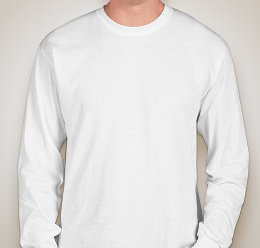 Gildan 50/50 Long Sleeve T-shirt - White