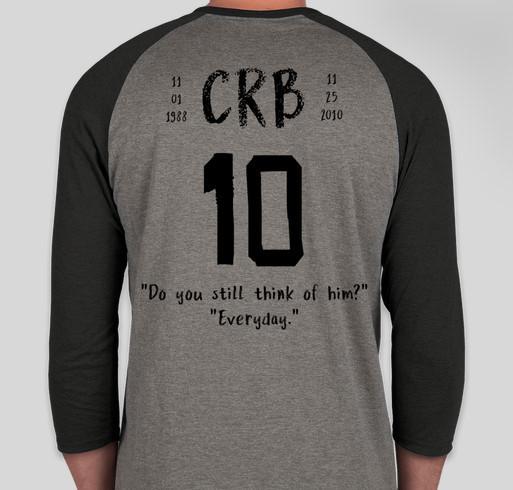 In memory of Colton Bertelson for Cheyenne Fundraiser - unisex shirt design - back