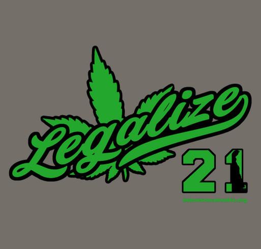 Legalize Delaware 2021 shirt design - zoomed