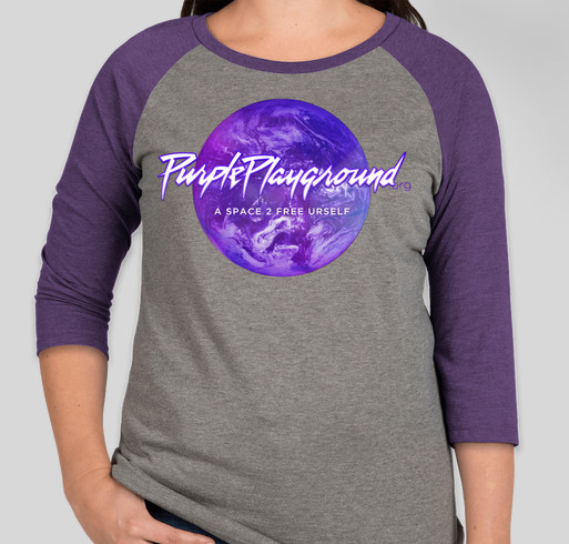 Purple Playground Ready for Anything Fundraiser - unisex shirt design - front