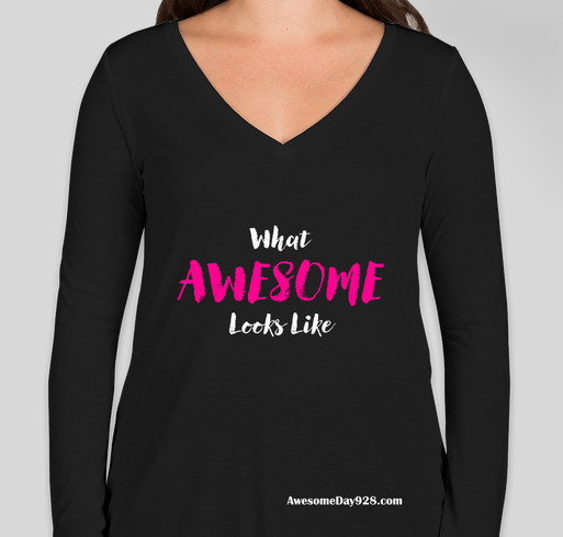 What Awesome Looks Like Fundraiser - unisex shirt design - front
