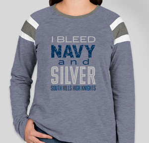 Navy and Silver