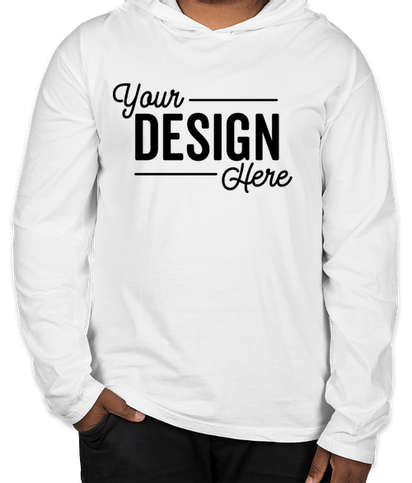 Comfort Colors Hooded Long Sleeve T-shirt - White
