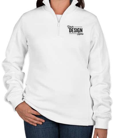 Sport-Tek Premium Women's Quarter Zip Sweatshirt - White