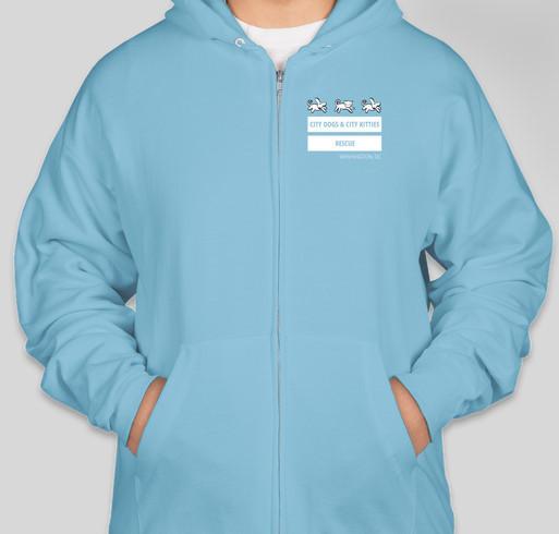 CDCK Dog-Cat-Dog Flag Zip Hoodies Fundraiser - unisex shirt design - front