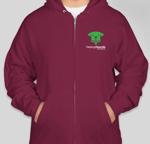 Helping Hounds Fall Apparel Fundraiser - unisex shirt design - front