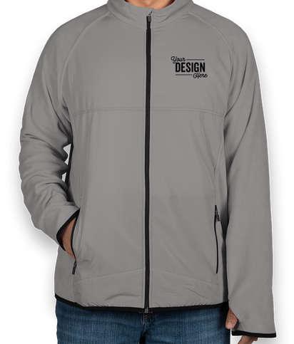 Team 365 Hybrid Microfleece Full Zip Jacket - Sport Graphite
