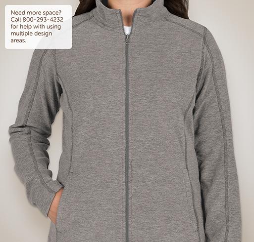 Port Authority Ladies Heather Microfleece Full-Zip Jacket - White