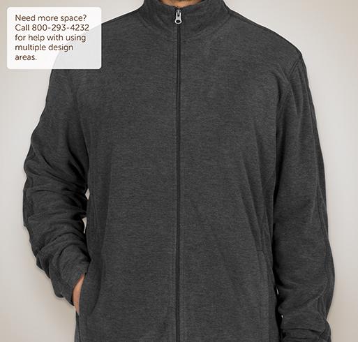 Port Authority Heather Microfleece Full-Zip Jacket - Black