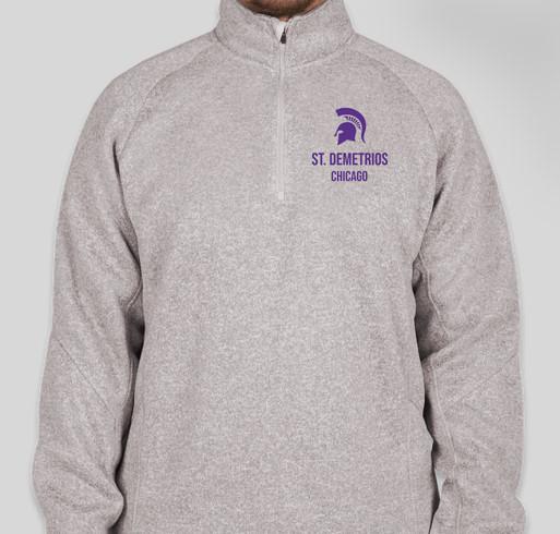 Devon & Jones Quarter Zip Sweater Fleece Pullover