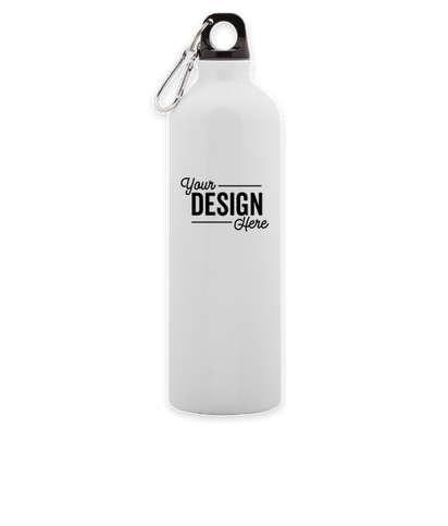 26 oz. Aluminum Water Bottle - White