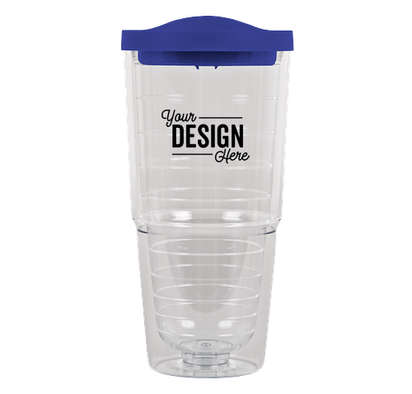 24 oz. Insulated Tumbler - Blue / Clear