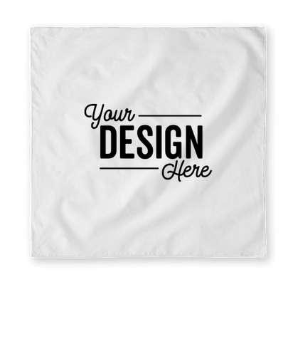 Augusta 100% Cotton Solid Bandana (Centered Design) - White
