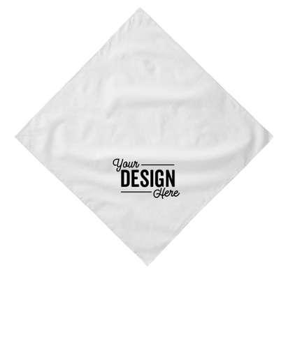 Augusta 100% Cotton Solid Bandana (Corner Design) - White