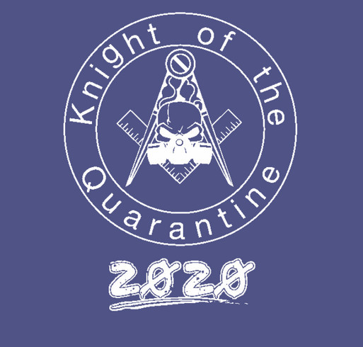 Knight of the Quarantine shirt design - zoomed