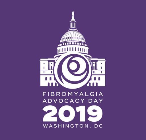 Fibromyalgia Advocacy Day 2019 shirt design - zoomed
