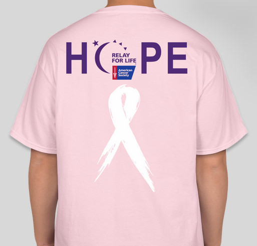 Relay For Life Fundraiser - unisex shirt design - back